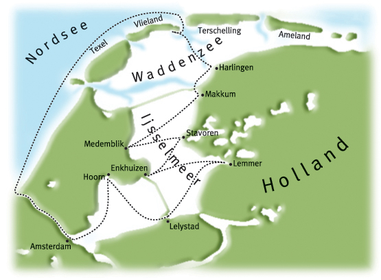 Karte Nordseeküste Holland.Sks Ausbildung Törns Ijsselmeer Holland Wattenmeer Nordsee